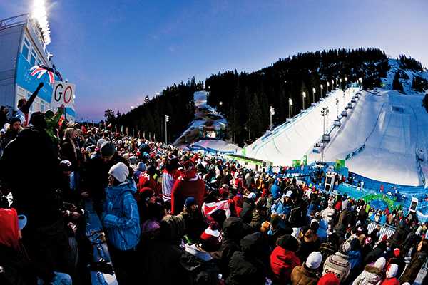 Vancouver Olympics, Cypress Mountain, Snowboarding, Halfpipe, Night, Action,